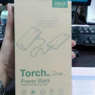 Powerbank ZOLA TORCH 10000 mAh 2.1 A - Putih