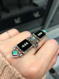 美國帶回 手造 復古松石戒指 from US unique Ring Handmade Turquoise size 7