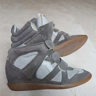 Isabel Marant High Top Wedge Sneakers