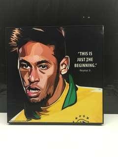 Neymar JR. Football Poster