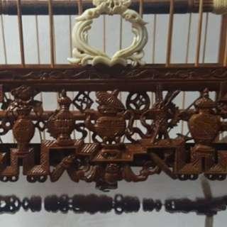 15 stick teapot cage full ivory