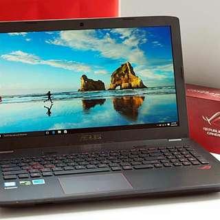 Laptop Asus ROG GL552VX Win 10 Ori Bisa Kredit