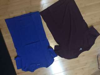 2 for one H&M shirts red and blue