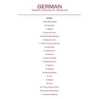 Learning German: Germanic Language of 128 Million (Set of 3 eBooks)