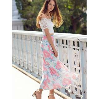 Cherise Floral Maxi Skirt