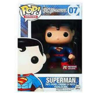 Superman DC Universe Funko Pop 07 PX Previews Exclusive