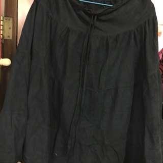 黑色絨面裙