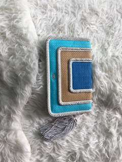 Anya Hindmarch Leather zip up clutch