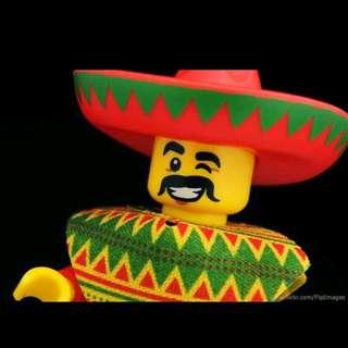 Lego Minifigs Taco Tuesday Guy 麥西哥