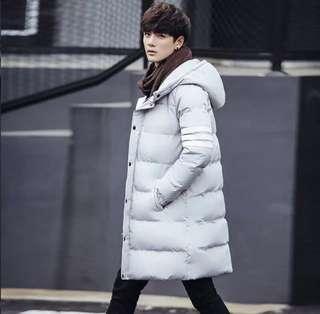 ♥️特價包郵♥️外套男冬季新款羽絨棉服男中長款潮流韓版加厚有碼