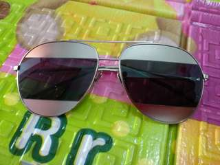 Christian Dior Split Black Silver Sunglasses Sunglass Aviator Look Kacamata Hitam