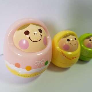 2006年Rainbow Spice俄羅斯娃娃擺設 (一套3件)