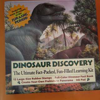 Dinosaur Discovery Books & Stamp Pack