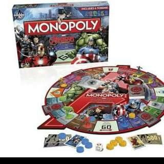 Monopoly Avengers Board Game by Hasbro