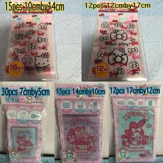 My Melody Hello Kitty Zip Lock Top Bag
