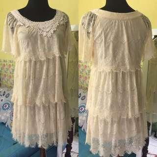 IMPORT- Layer Lace dress