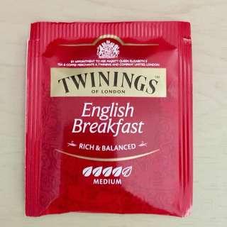Twinings of London Tea bags,English Breakfast Tea,rich & balanced,medium,川寧,茶包,英式早餐茶