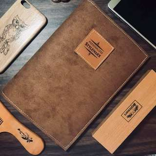Stylemarx Personalized Hand crafted Leather Book Sleeves