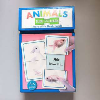 Flash Cards interactive Animals slide and learn