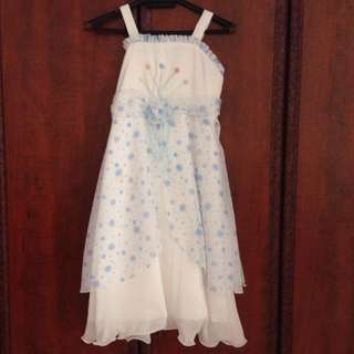 Pretty Blue/White Girl Dress
