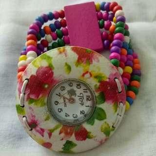 Jam tangan rainbow