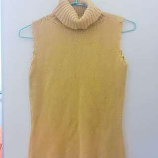 🚚 黃色針織背心