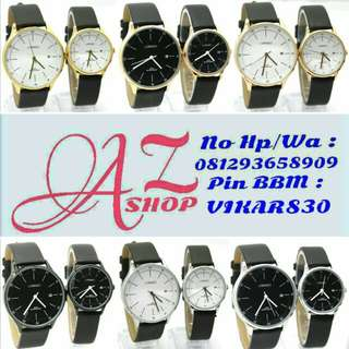 Jam Tangan Couple Lorenzo R1020 Leather Original Murah