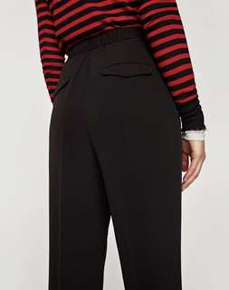 Zara High-rise Trousers With Stretch Waist