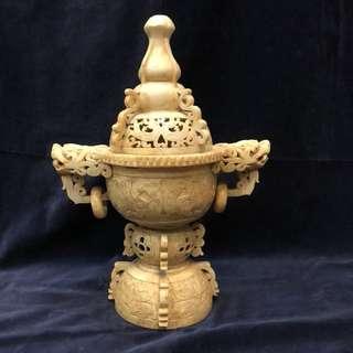 龍鳳玉香燻爐-35.8cm 高