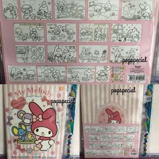Last PCS My Melody Colouring Book with one page sticker