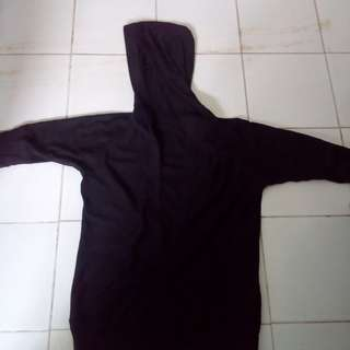 Baju hoody hitam