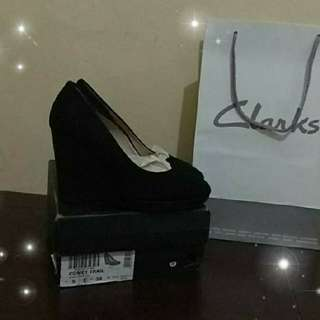 Clarks comet trail wedges suede size 38 new original