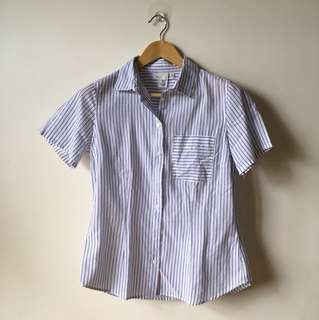 Short sleeved button down top - H&M