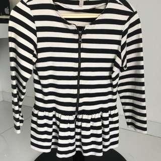 ZARA TRAFALUC - Stripes Jacket