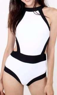 LF: Halter Side Cut Swimwear