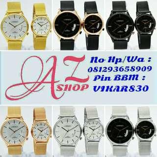 Jam Tangan Couple Lorenzo R1022 Rantai Pasir Original Murah