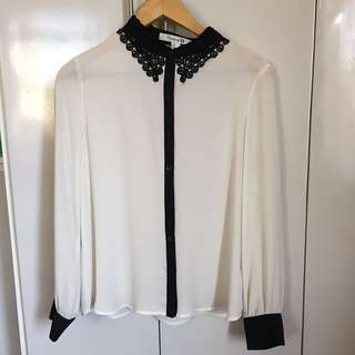 FOREVER 21 Knit Collar top