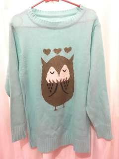 Sweater rajut baby blue
