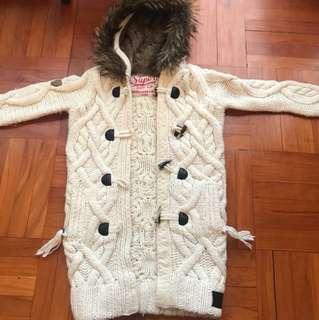 Superdry Japan Knitwear White Jacket