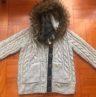 Superdry Japan Knitwear Jacket with Hoodie