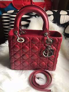 Lady Dior Medium Lamb Skin