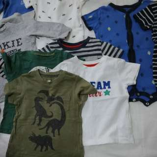 Assorted baby boy clothes