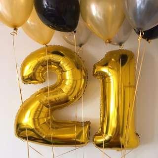 Huge helium balloons