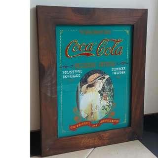 Framed Vintage Coca Cola Poster