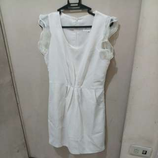Off White Korean Dress - FREE SHIPPING