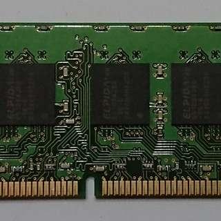 ELPIDA 1GB 2Rx8 PC2-6400E-666 RAM
