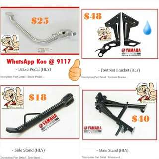 1702** Brake Pedal, Footrest Bracket, Side Stand, Main Stand, Etc Accessories.. for YAMAHA SPARK, JUPITER Mx