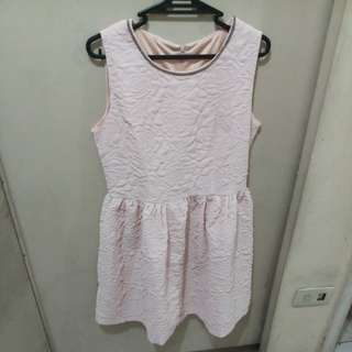 Baby Pink Flower Printed Dress - FREE SHIPPING