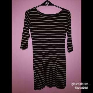 Stripe brown/black dress