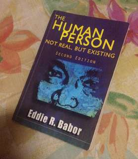 🌺 The human person: not real, but existing book (second edition)